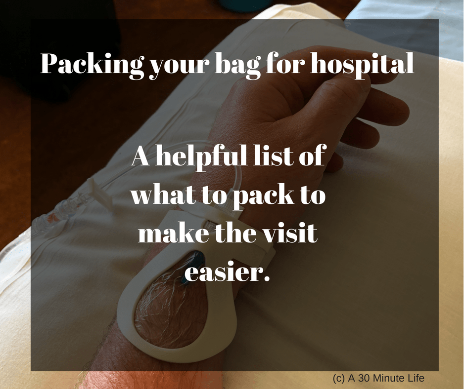Packing your bag for hospital?