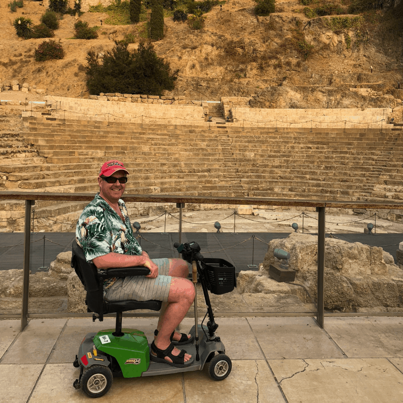 Me and my scooter in Malaga, Spain